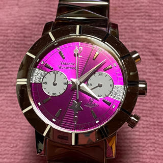 Vivienne Westwood - ヴィヴィアンウエストウッド クロノグラフ シルバー パープル 腕時計