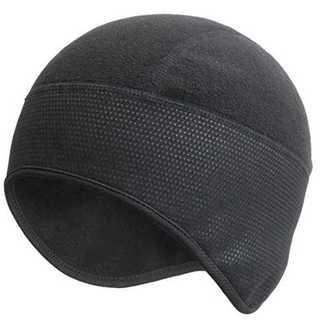 ブラックフリーサイズ防寒 防風 ヘッド ウェア ラップ カバー スポーツ ビーニ
