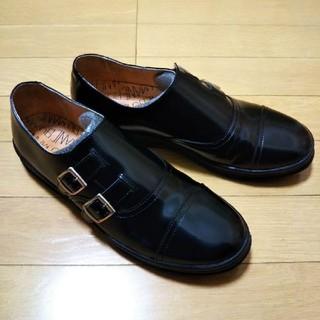 MANEBU マネブ レザー ダブルモンクストラップシューズ スニーカー(ローファー/革靴)