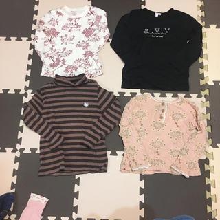 オリーブデオリーブ(OLIVEdesOLIVE)の長袖 110サイズ 女の子 4枚セット(Tシャツ/カットソー)
