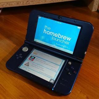 ニンテンドー3DS - NEW ニンテンドー 3DS LL メタリックブルー NTR  HBL CFW