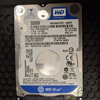 320GB WD 2.5inch HDD 7.2mm 初期化済(38)(PCパーツ)