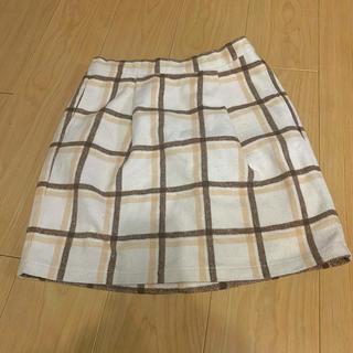 台形スカート チェック(ミニスカート)