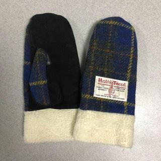 ハリスツイード(Harris Tweed)のハリスツイード 手袋 ミトン 指なし レディース(手袋)