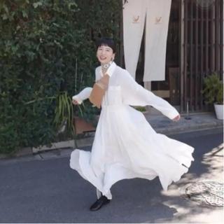 STUDIOUS - CLANE クラネシャツ ワンピース ホワイト 白 マキシ丈