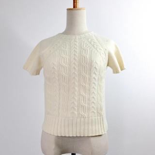 マックスマーラ(Max Mara)のウィークエンド マックスマーラ 半袖ニット Sサイズ ホワイト かわいい ウール(ニット/セーター)