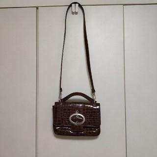 ビバユー(VIVAYOU)のビバユー ショルダーバッグ ハンドバッグ 型押し 茶色(ショルダーバッグ)