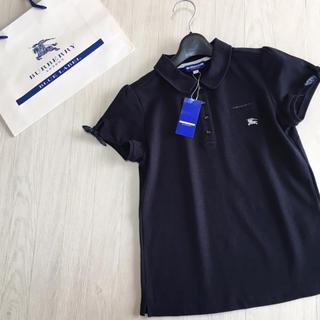 BURBERRY BLUE LABEL - 新品タグ付き☆バーバリーブルーレーベル お袖リボン ポロシャツ 38サイズ