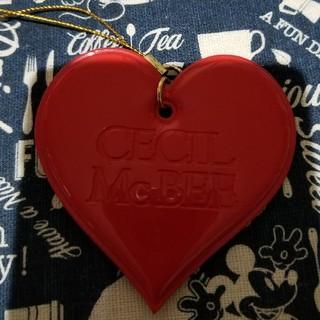セシルマクビー(CECIL McBEE)のセシルマクビー ハートの携帯ストラップ(ストラップ/イヤホンジャック)