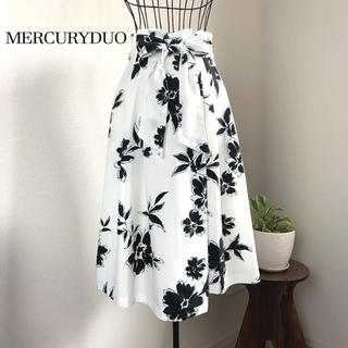 MERCURYDUO - 【美品】 MERCURYDUO マーキュリーデュオ フラワーフレアスカート S