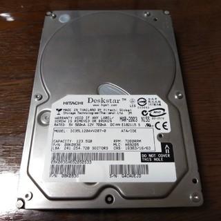ヒタチ(日立)の3.5インチHDD 123.5GB 1個 [ジャンク](PCパーツ)