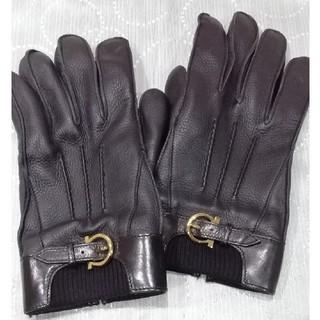 サルヴァトーレフェラガモ(Salvatore Ferragamo)のSalvatore Ferragamo レザーグローブ メンズ(手袋)