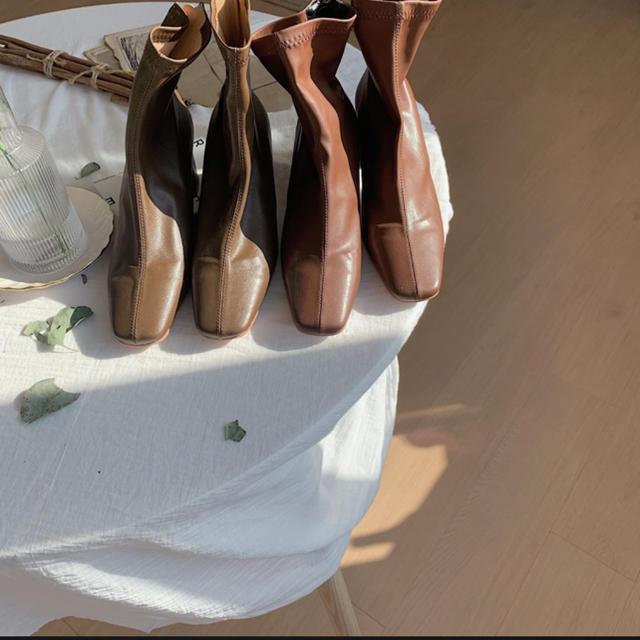 TODAYFUL(トゥデイフル)のnokcha stitch boots レディースの靴/シューズ(ブーツ)の商品写真