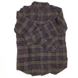 ムジルシリョウヒン(MUJI (無印良品))の無印良品 タータンチェック シャツ L(Tシャツ/カットソー(七分/長袖))
