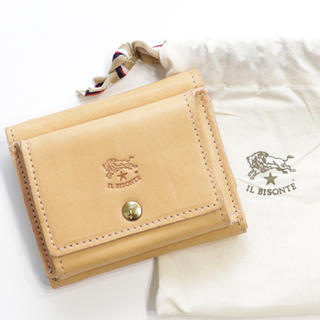 IL BISONTE - 新品 イルビゾンテ ミニ財布 三つ折り財布 折財布 ミニウォレット ヌメ革 人気