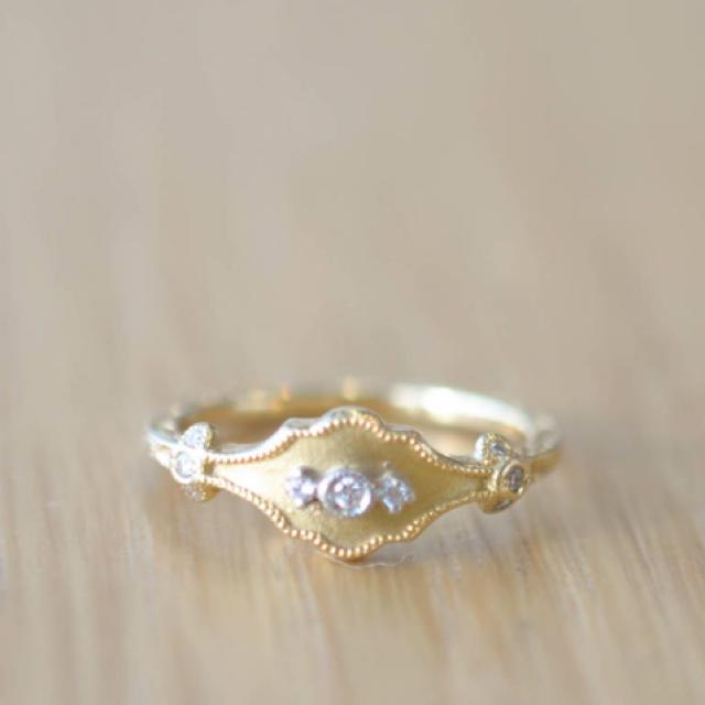 agete(アガット)のアベリ abheri K18 リング レディースのアクセサリー(リング(指輪))の商品写真