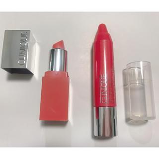 クリニーク(CLINIQUE)の【新品】クリニーク リップ 口紅 ミニサイズ メロンポップ 2本セット(口紅)
