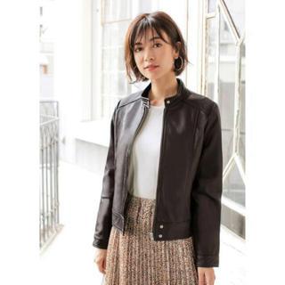 STYLE DELI - 新品未使用☆スタイルデリ ノーカラーレザー ジャケット ブラウン