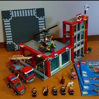 Lego - 【LEGO】レゴシティ60004 ファイヤーステイション & ロードプレート1枚