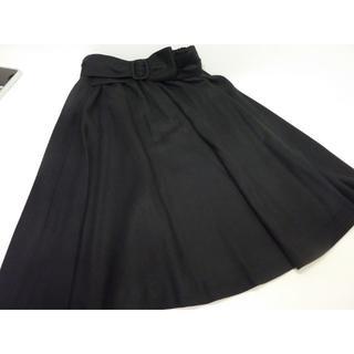 STRAWBERRY-FIELDS - STRAWBERRY-FIELDS フレアースカート リボンベルト付き ブラック