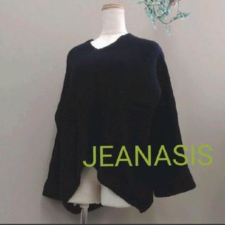 JEANASIS - JEANASIS ジーナシス ニット フリーサイズ ブラック