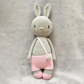 ハンドメイド あみぐるみ うさぎ 出産祝い ベビー おもちゃ 人形 かぎ針編み