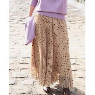 IENA - IENA フロッキーDOTプリーツスカート size 38