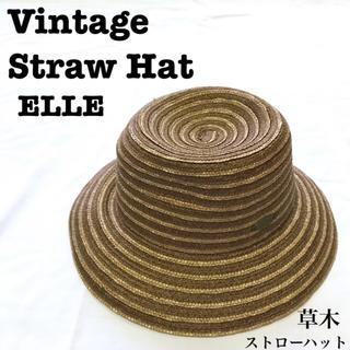 Lochie - 美品【 vintage 】 アンティーク ストローハット 麦わら帽子 カンカン帽