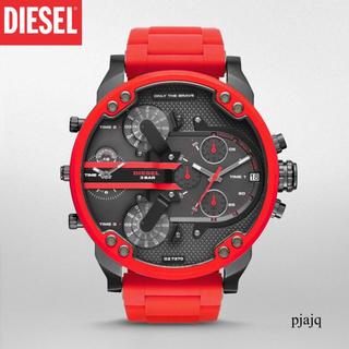 ディーゼル(DIESEL)の昼まで特価セール!オールレッド!新品ディーゼル腕時計 DIESEL DZ7370(腕時計(アナログ))