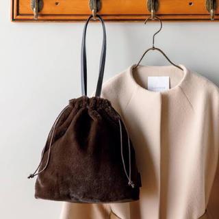タカラジマシャ(宝島社)のエコファー巾着バッグ エレンディーク(ショルダーバッグ)