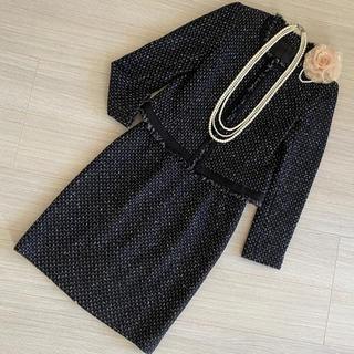 ANAYI - アナイ スーツ フォーマル 卒業式 入学式 ママスーツ 黒系 38/M/9号
