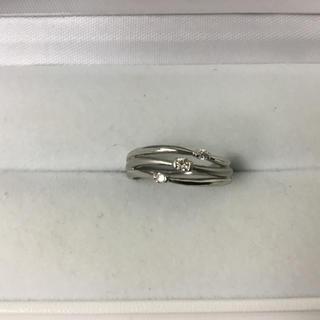 ◆ダイヤ入り★プラチナ★ファッション★リング◆(リング(指輪))