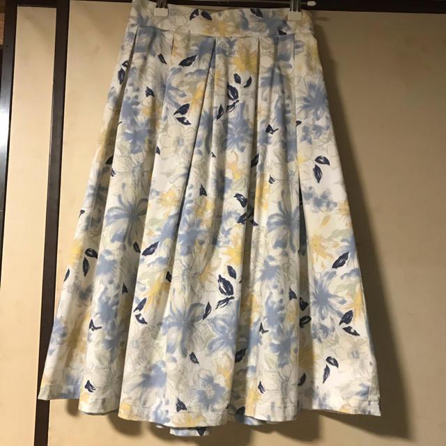 mysty woman(ミスティウーマン)のmysty woman 花柄スカート レディースのスカート(ひざ丈スカート)の商品写真