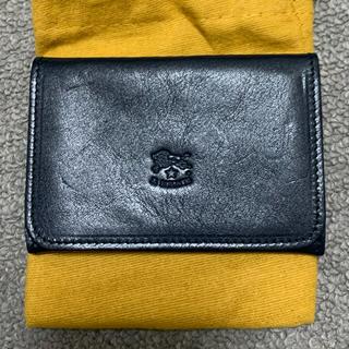 イルビゾンテ(IL BISONTE)のIL BISONTE 名刺入れ カードケース ネイビー 袋付き(名刺入れ/定期入れ)