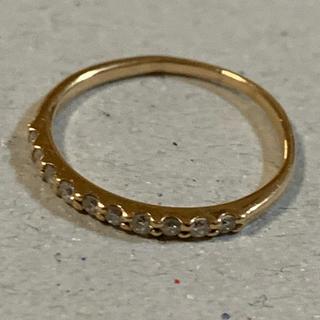 K18 ダイヤモンド 0.10ct リング (リング(指輪))