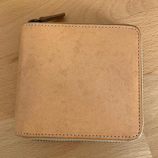 ムジルシリョウヒン(MUJI (無印良品))の【無印良品】イタリア産ヌメ革ラウンドファスナー二つ折り財布(折り財布)
