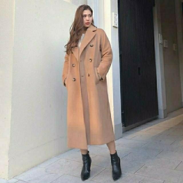 rienda(リエンダ)のLoose Tailor WOOL CT  ルーズテイラーウールコート レディースのジャケット/アウター(ロングコート)の商品写真