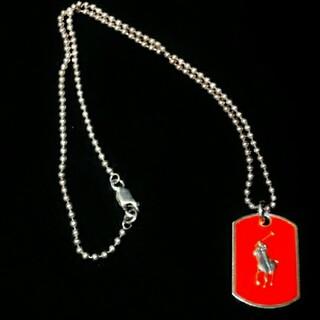ラルフローレン(Ralph Lauren)の希少カラー ラルフローレン ネックレス ペンダント ドックタグ ドッグタグ プレ(ネックレス)