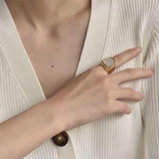 アパルトモンドゥーズィエムクラス(L'Appartement DEUXIEME CLASSE)の刻印あり 24k シグネットリング(リング(指輪))