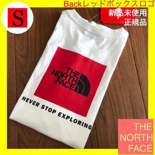 THE NORTH FACE - 新品 ノースフェイス 白 Tシャツ 後レッドボックス ※US-S 海外サイズ