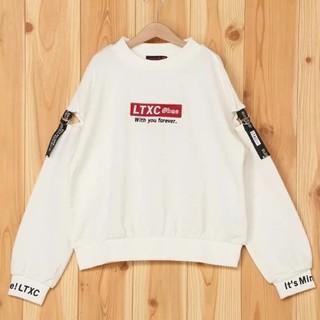 ラブトキシック(lovetoxic)の【新品】lovetoxic ラブトキシック 肩テープ袖ロゴ裏毛トレーナーM150(その他)