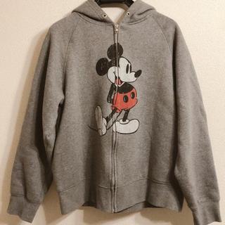 Disney - 【極美品】ディズニー ミッキー パーカー グレー