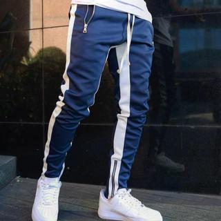 Mサイズ ブルー ジョガーパンツ ストリート メンズ