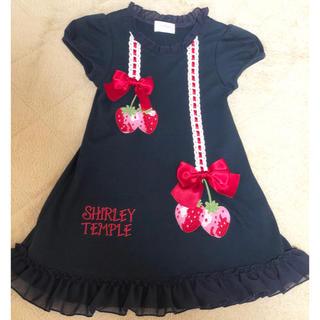 Shirley Temple - 100 いちごカットソーワンピース