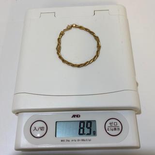 刻印あり 18金 K18 ブレスレット 19㎝ 8.9g ゴールド 金 確実本物