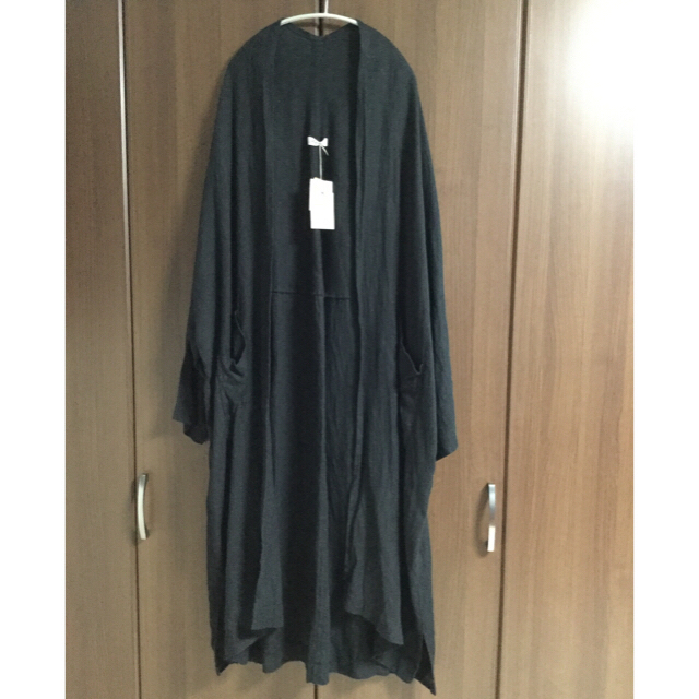 nest Robe(ネストローブ)のイチアンティークス ビエラカーディガン(完売品)BLACK レディースのジャケット/アウター(ロングコート)の商品写真