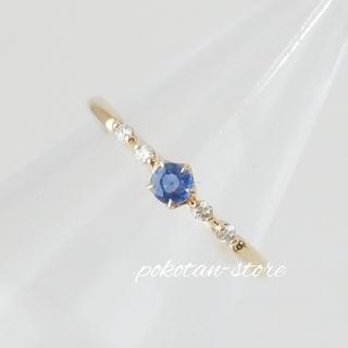 STAR JEWELRY - 美品【スタージュエリー】K18YG    ダイヤモンド×サファイア リング