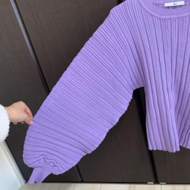 SLY(スライ)のスライ ボリューム袖ニット レディースのトップス(ニット/セーター)の商品写真