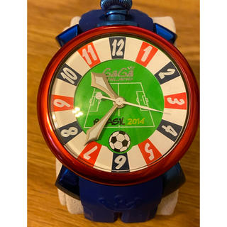ガガミラノ(GaGa MILANO)のGAGA MILANOガガミラノ2014ワールドカップ日本代表モデル限定希少時計(腕時計(アナログ))