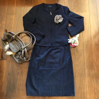 NEWYORKER - ニューヨーカー★ネイビーのスカートスーツ